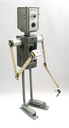 Spartus 498 - Found Object Robot Assemblage Sculpture By Brian Marshall by adopt-a-bot, via Flickr***Research for possible future project.