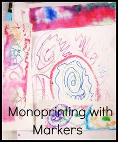 Try this with an empty CD case - via Art is Basic-- Art Teacher Blog