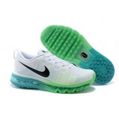 Nike Flyknit Air Max White/Green