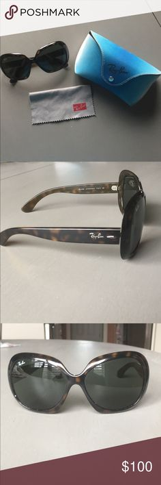 Raybans! Jackie-oh sunglasses! No scratches, excellent condition! Ray-Ban Accessories Sunglasses