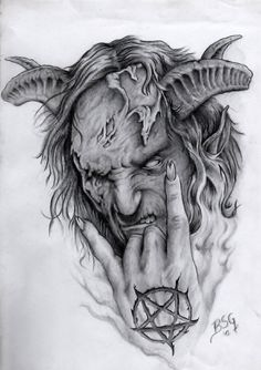 demon liorcifer by blacksoulgraphics on DeviantArt Badass Drawings, Demon Drawings, Dark Art Drawings, Tattoo Drawings, Dark Art Tattoo, Demon Tattoo, Grey Tattoo, Body Art Tattoos, Samurai Tattoo