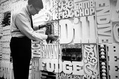 Lou Dorfsman's Gastrotypographicalassemblage. a precursor to kinetic type?