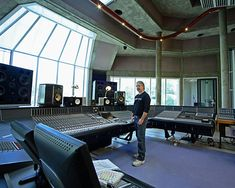 the Big Room at Peter Gabriel's Real World studios in Wiltshire (basically, his home studio) -- I'm actually surprised to see so much glass and concrete! But hey, if it ain't broke, don't fix it. the Gabe knows best! This is also a great blog link on production advice.