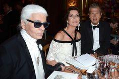 Karl Lagerfeld, Princess Caroline of Hanover and Mario Testino attends the dinner at the 'Love Ball' - Zimbio
