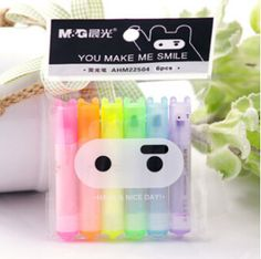 $1.78 Cheap pen hero, Buy Quality pen animal directly from China gel ink ball pen Suppliers: 6 pcs/lot Cute Kawaii Mini Highlighter Creative Lovely Cartoon Ninja Rabbit gel Pen for Kids Korean Stationery Free ship