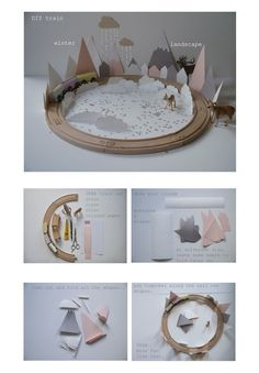 Marie-Laure Bouwens / La maison de Loulou and this Do It Yourself.  Winter scene tutorial for kids