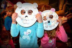 Life makes me Laff: Polar Bear Pajama Party - Craft Time Polar Bear masks