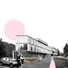 School of Architecture Design - Portfólio Plans Architecture, Architecture Collage, Architecture Visualization, Architecture Student, Landscape Architecture, Architecture Design, Architecture Graphics, Master Thesis, Architect Jobs