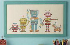 Kanaviçe Şemaları: Kanaviçe robotlar  cross stitch