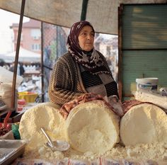 Traditional Turkish cheese comes in crumbs and people have it for breakfast.