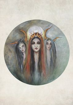 Hecate Triple Goddess Print by druidessart on Etsy, $22.30