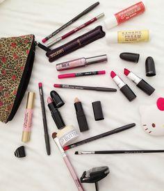 "The ""essentials"" in my make-up bag....ha ha ha"