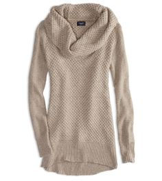 Neutral Oversized Long Sweater