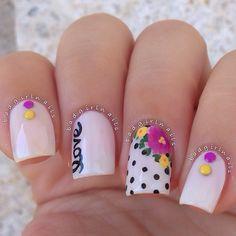 nails nail art ideas for short nail Great Nails, Cool Nail Art, Love Nails, My Nails, Pink Nails, Nail Art Designs 2016, Simple Nail Art Designs, Nail Art Kawaii, Girls Nails