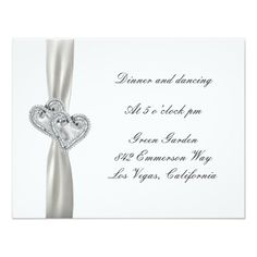 Hearts White Wedding Reception Cards Personalized Invitation http://www.zazzle.com/hearts_white_wedding_reception_cards_invitation-161230148876757834?printquality=4color&rf=238271513374472230  #wedding