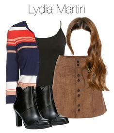 """Lydia Martin - tw / teen wolf"" by shadyannon ❤ liked on Polyvore featuring M&Co, Halogen and plus size clothing"