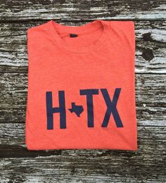 Houston Texas - HTX - Orange Unisex Tee
