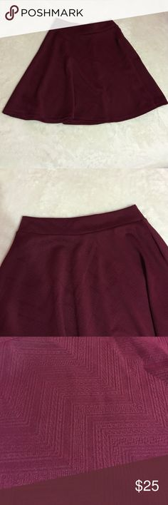 Charlotte Russe - Burgundy Skater Skirt Charlotte Russe - Burgundy Skater Skirt. Size S. Any questions let me know, I'll be happy to answer. Skirts Circle & Skater