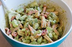 Kalyn's Kitchen®: Shrimp, Avocado, and Red Pepper Salad Recipe-you can opt out on the mayo or make your own.