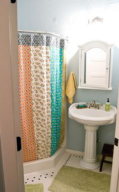 I like the shower curtain better than glass that is hard to clean