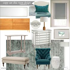 Totally into teal and grey....A peacock blue master bedroom for under $3,000 | Lorraine B.