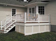 Our cheap vinyl railing, fencing, and decking comes in a variety of colors and styles. Perfect to match any house. Check us out at greatrailing.com for more information on how to create your own dream deck.