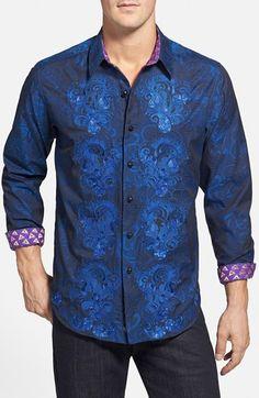 Men's Robert Graham 'The G Ron' Classic Fit Sport Shirt