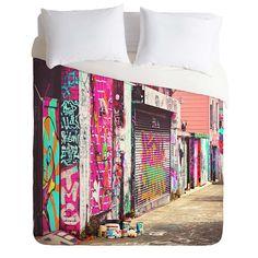 Shannon Clark Paint It Pink Duvet Cover | DENY Designs Home Accessories
