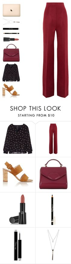 """""""i kissed a girl"""" by ouchm4rvel ❤ liked on Polyvore featuring Maje, Haider Ackermann, Barneys New York, Lulu Guinness, Armani Beauty, Maybelline, Christian Dior and Wet Seal"""