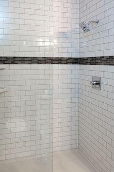 Tile: Angora Soho 3x6 Glossy Wall Tile, White, GTS Porcelain Brick 12x12 Sheet, Gray