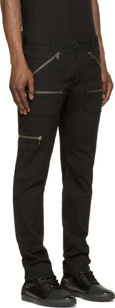 Diesel Black Gold Black Twill Progressy Trousers