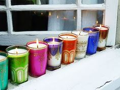 these candles look wonderful to place around the tables at any event,    i like them on starched damask clothed tables.