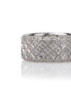 Rahaminov 1.15ctw Wide Pave Diamond Band | Oster Jewelers #MyBridalStyle #MyDiamondStyle