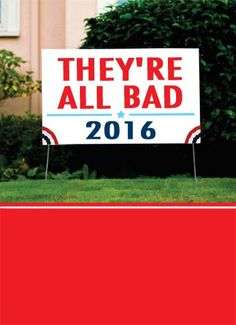 Funny Birthday Card Funny Political sign political birthday yard grass democrat republican party wine bad, On your Birthday, Wine gets my vote!