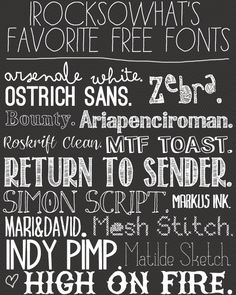 I Rock So Whats Favorite Free Fonts