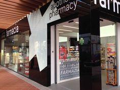 Fachada Farmacia Torre del Mar Tech Companies, Company Logo, Shops, Renovation, Pharmacy, Board, Towers, Blue Prints