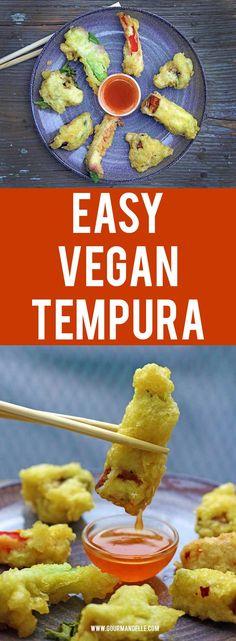 Easy Vegetarian Tempura | Do you want to know how to make vegetarian tempura? Here's an easy recipe for making crispy and delicious vegan tempura. #japanese #tempura #veganrecipes