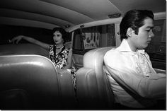 Akihiro Miwa, Japanese singer, actor, director, composer and author being chauffeured on a Tokyo nightclub tour.