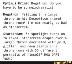 #optimusprime, #megatron, #starscream, #transformers