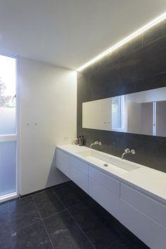 A Villa in Denmark Located on the Edge of a Forest - Design Milk Bathroom Layout, Bathroom Design, Modern Bathroom, Interior Design News, Luxury Tub, White Bathroom, Minimalist Home, Trendy Bathroom, Gray And White Bathroom