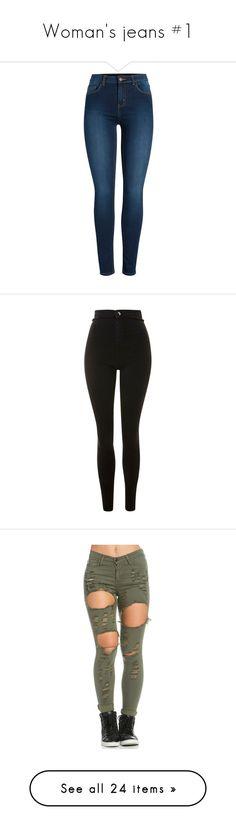 """Woman's jeans #1"" by khongorzul ❤ liked on Polyvore featuring jeans, pants, bottoms, calças, dark denim, blue skinny jeans, skinny jeans, dark denim skinny jeans, dark denim jeans and ripped denim jeans"