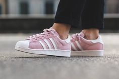 The adidas Superstar Receives a Pastel Pink Suede Treatment