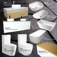 Our bathroom best sellers of Which is your favourite? Toilet Suites, Corner Bath, Wall Hung Vanity, Dream Bathrooms, Basin, Products, Gadget