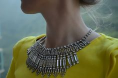 Isis - Stunning rhinestones statement necklace - made to order- shipping after 16 th of March.. $220.00, via Etsy.