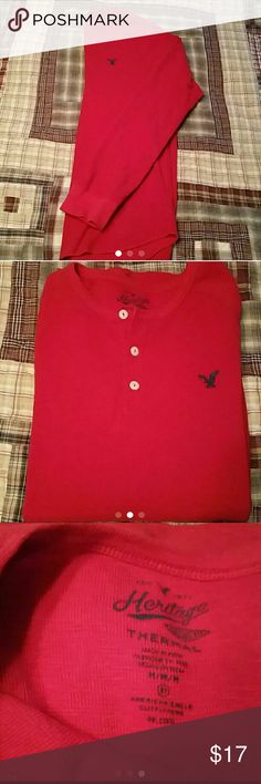 Men's AE long sleeved thermal Henley Men's AE long sleeved thermal Henley.  Size medium.  Brand new condition.  Worn once. American Eagle Outfitters Shirts Tees - Long Sleeve