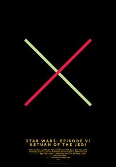 Movie Posters Simplified by Graphic Designer Michal Krasnopolski: Star Wars - Episode VI - Return of the Jedi
