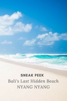Heaven has been found! Hidden beach Nyang Nyang is what has to be one of the last remaining secret beaches on the Island of the Gods. #bali #indonesia