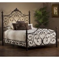 Baremore Iron Bed in Antique Bronze by Hillsdale Furniture