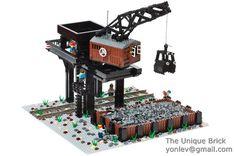 Lego Custom Train Rotating Coal Loader Instructions Manual City Town Creator | eBay