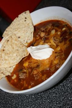 My favorite Taco Soup recipe.  It's so easy and doesn't need to be 'doctored' for our family.